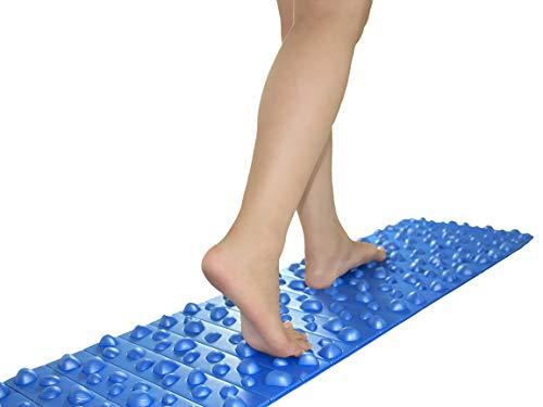 Balance 1 Foot Massage Folding Foam Mat Acupressure Massage Pebble Mat-Foot Pain Relief, Blue