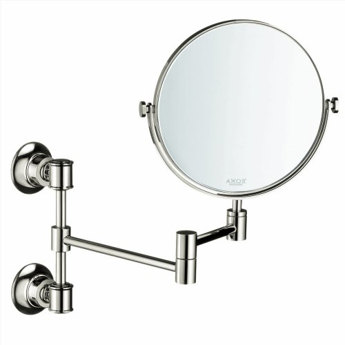 Axor 42090830 Montreux 7-3/4-In Double-Sided Round Mirror, Polished Nickel