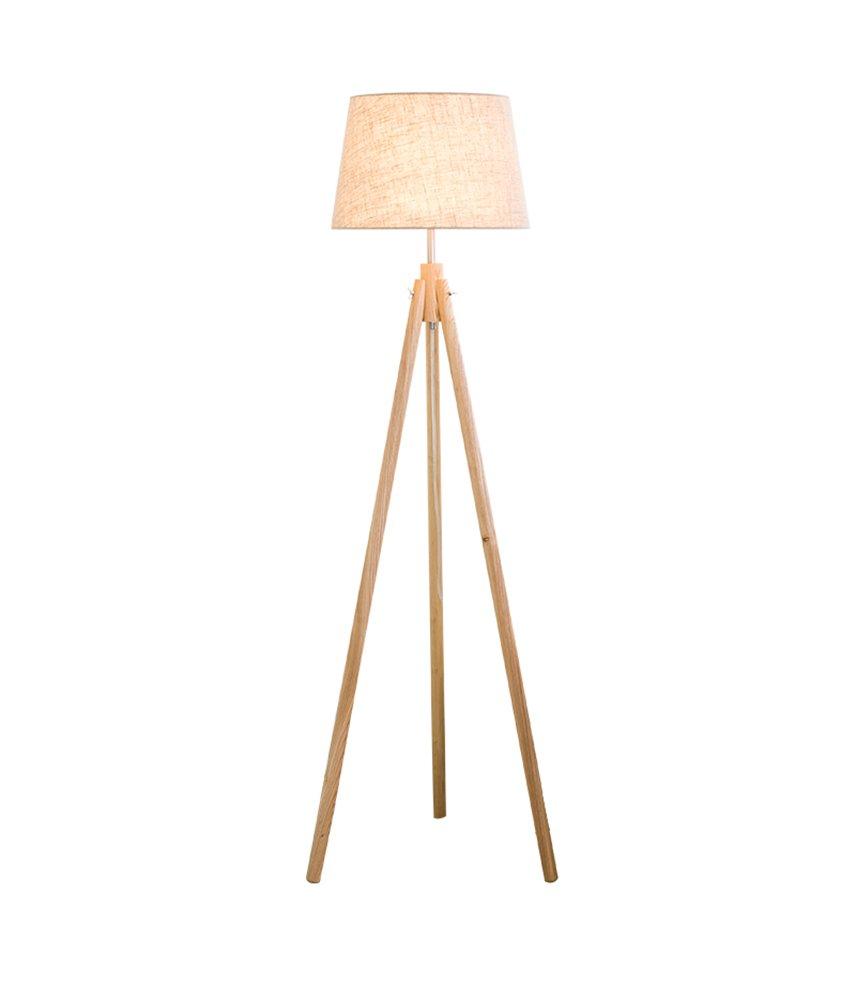現代の簡単なフロアランプの研究ベッドルームのベッドサイドの北ヨーロッパソリッドウッド日本式インテリジェントリモコン垂直ledライトE27 * 1木の色 (色 : #1) B07DGNDLDR 23481  #1