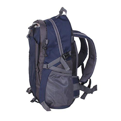 Campeggio Trekking Esterno In Nylon Impermeabile Zaino Borsa Zaino Blu Scuro