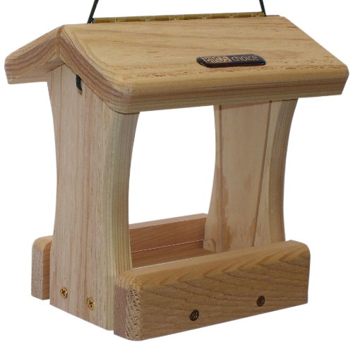 Birds Choice Birds Choics 3 Cup Wood Bottom Hopper