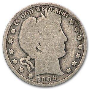 1906 O Barber Half Dollar Good Half Dollar Good