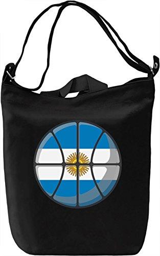Argentina Basketball Borsa Giornaliera Canvas Canvas Day Bag  100% Premium Cotton Canvas  DTG Printing 