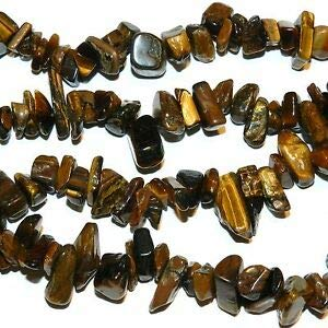 (NG2090 Golden Brown Large 8mm - 18mm Natural Tiger's Eye Gemstone Chip Beads 36
