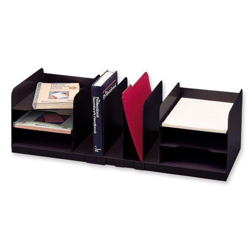 STEELMASTER Steel Combination Organizer with Adjustable Shelves, 30 x 8.13 x 11 Inches, Black (26420HVHABLA) by STEELMASTER