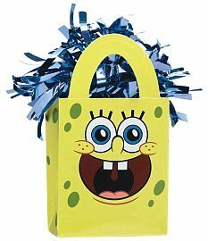 Amscan Sponge Bob Mini Tote Balloon Weight - 5.5 in. x 3 in. Each [Toy] [Toy] by KidsPartyWorld.com ()