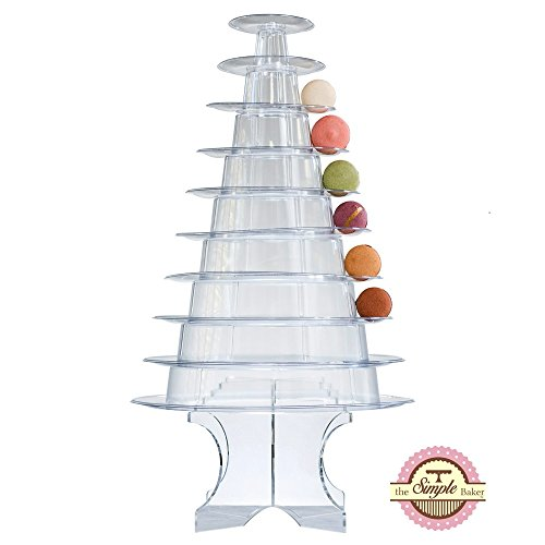 Sweet Stands Plastic Macaron Tower Display 10 Tier WITH -