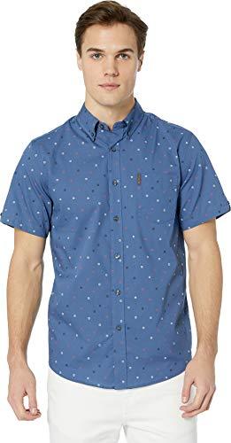 Ben Sherman Men's SS SCTTRD TRGT PRNT Shirt, True Navy, XXL