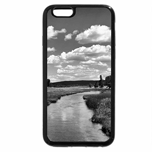 iPhone 6S Case, iPhone 6 Case (Black & White) - grizzly river in yellowstone