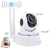 Amorvue 720p Security Ip Camera, Day&Night Vision WiFi Home Camera with Remote Viewing Indoor Pan/Tilt Baby Monitor Camera Plug & Play, 2-Way Audio (White)