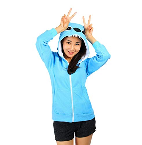 Automne Capuche Mode lgant A Gaine Femme Skyblue Capuchon Sweat Outerwear Imprim Manches Caline 1 Coat Manteau Longues Capuche Panda Costume Printemps Sweat XPIXYx