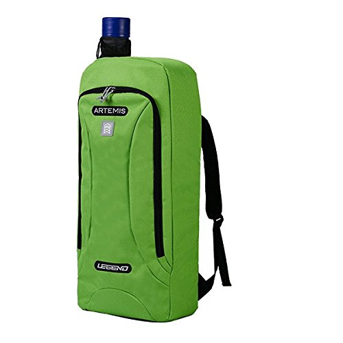"""Legend Archery Recurve Backpack Bag Artemis for Recurve Bow up to 27"""" - Telescopic Arrow Tube Included - Ideal for Beginners and Seasoned Archers (Green)"""