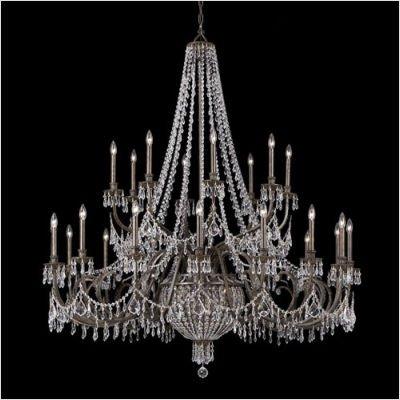 Crystorama 5170-EB-CL-MWP, Vanderbilt Crystal Chandelier Lighting, 29 Light, 725 Watts, Bronze