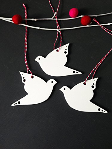 Dove Christmas ornaments Set of 3 white acrylic bird Christmas (Dove Christmas Tree)