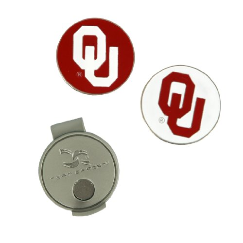 (Team Effort Oklahoma Sooners Hat Clip & 2 Ball Markers)
