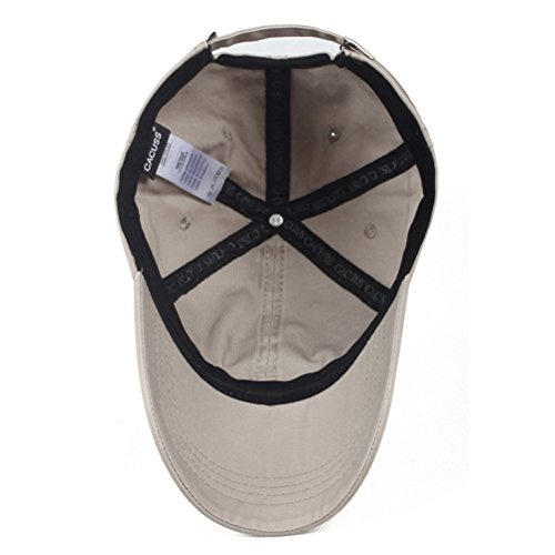 CACUSS Men's Cotton Classic Baseball Cap Adjustable Buckle Closure Dad Hat Sports Golf Cap