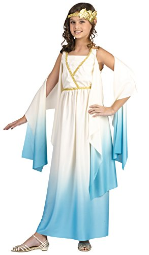 Fun World Greek Goddess Child Costume Cream Large (12-14) -