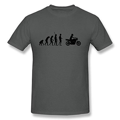 Tianbang Men's T Shirt Evolution Motorcycle Naked Bike Size XXL DeepHeather