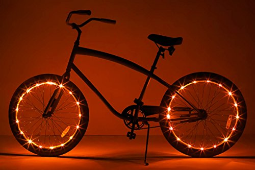 Cheap Brightz, Ltd. Wheel Brightz LED Bicycle Accessory Light (2-Pack Bundle for 2 Tires), Orange
