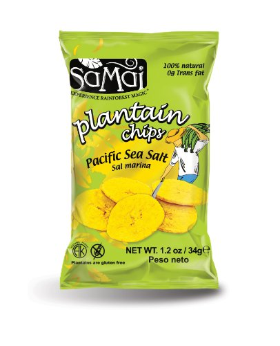 Samai Plantain Chips, Pacific Sea Salt, 1.2 Ounce (Pack of 60)