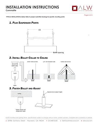 ALW CML 4' LED Pendant, Aluminum Finish, CLEARANCE ITEM by COMMALITE (Image #4)