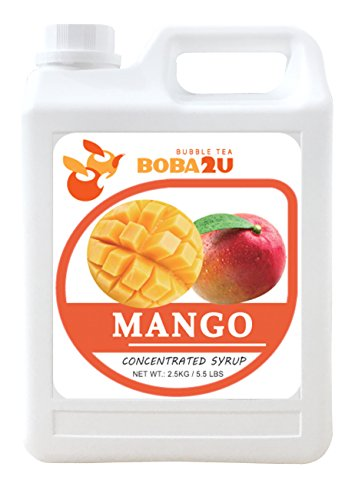 Drink Concentrated (BOBA2U CONCENTRATED SYRUP MANGO 5.5 LBS)