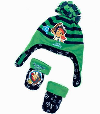 Disney Jake and the Neverland Pirates Hat and Mittens Set - Age 12-36 Months ACHARACTERSHOP