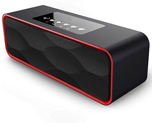 Wireless Bluetooth Speaker 4.0 Portable Speakers Stereo Strong Enhanced Bass FM Radio MP3 Player, 10 Play Hour 2200mAh Battery Hands-Free Calling Built-in Microphone, TF Card, USB Input, AUX Line-in