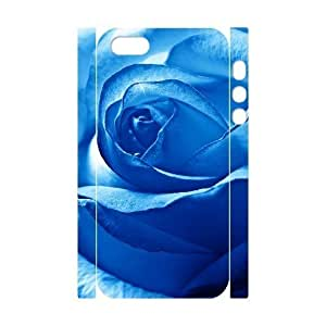 3D Bumper Plastic Customized Case Of Colorful Rose for iPhone 5,5S