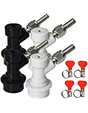 Keg Disconnect Ball Lock Disconnect - LUCKEG Brand Ball Lock Quick Disconnect with Swivel Nut and Hose Clamp for Homebrewing