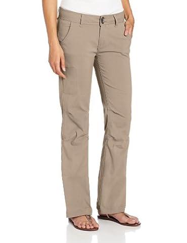 prAna Women's Halle Short Inseam Pant, Dark Khaki, 4 (Womens Adventure Pants)