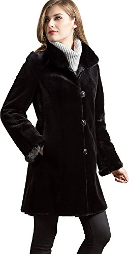 Overland Sheepskin Co Susan Reversible Danish Mink Fur Coat (Coat Overland Reversible)