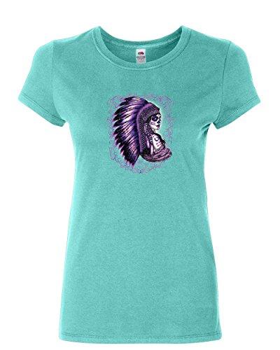 Tribal Femme T-shirt Indian American Gilet pour Femme