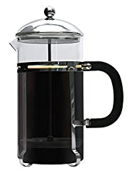 Premium French Coffee Press By Brewsentials.com - 1L Carafe Brewer - Double Filter Design - Heat Resistant Borosilicate Glass - Brewing Essentials For Java Lovers from Brewsentials