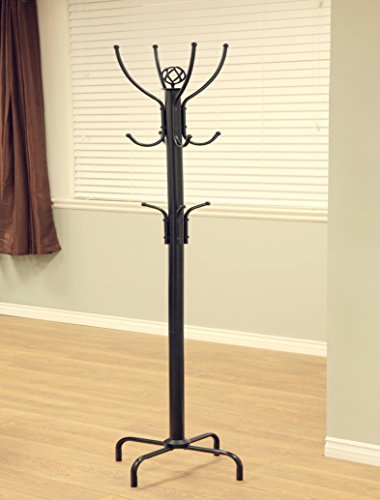 "Frenchi Home Furnishing  Coat Rack, 73"" H, Raisin Black"