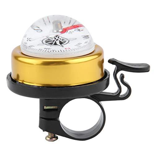 Bici de montaña Bocina de campana Botón de un toque con anillo alto Bici de metal metálica MTB Alarma de ciclismo con...