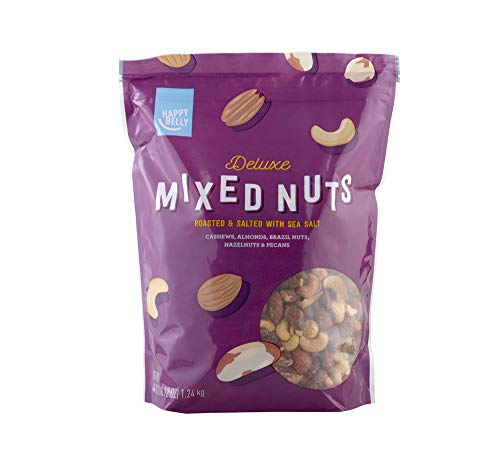 Amazon Brand - Happy Belly Deluxe Mixed Nuts, 44 Ounce (Dry Nuts Roasted Mixed)