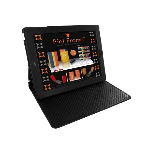 Apple iPad 2 / 3 / 4 Gen. Piel Frama Black Crocodile Cinema Magnetic Leather Cover by Piel Frama
