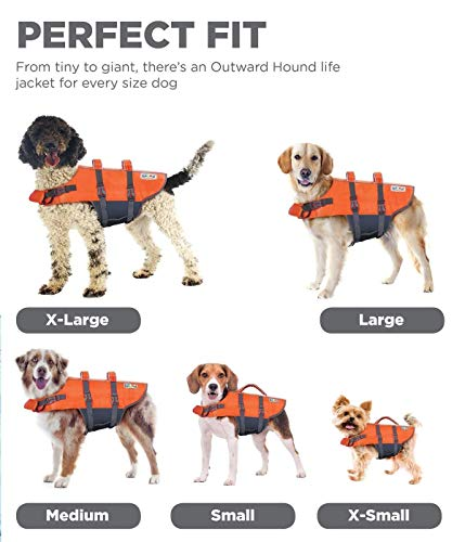 Kyjen Outward Hound PupSaver Ripstop Life Jacket Orange (Large)