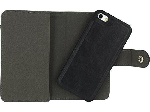 Mobilize All-In-One Wallet Book Case Apple iPhone 5/5S Black