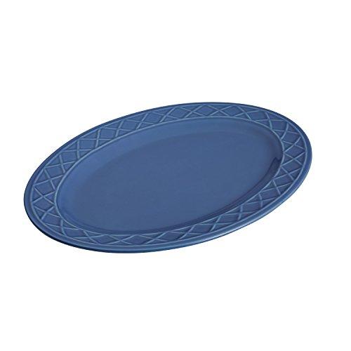 Blossom Oval Serving Platter - Paula Deen Dinnerware Savannah Trellis Stoneware Oval Serving Platter, 10