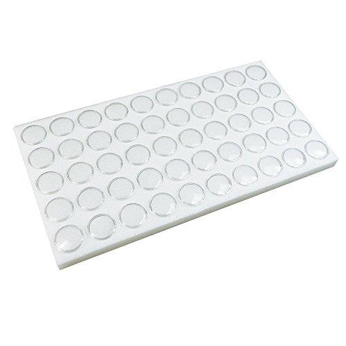 White Gem Jar Jewelry Tray Insert Gemstone Display 50 Gem Cups