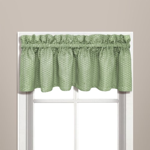 United Curtain Hamden Woven Waffle Valance, 57 by 14-Inch, Sage
