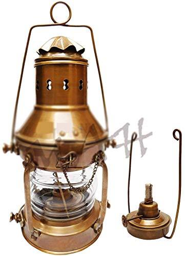 Antique Vintage Brass Ship Anchor Boat Lantern 13