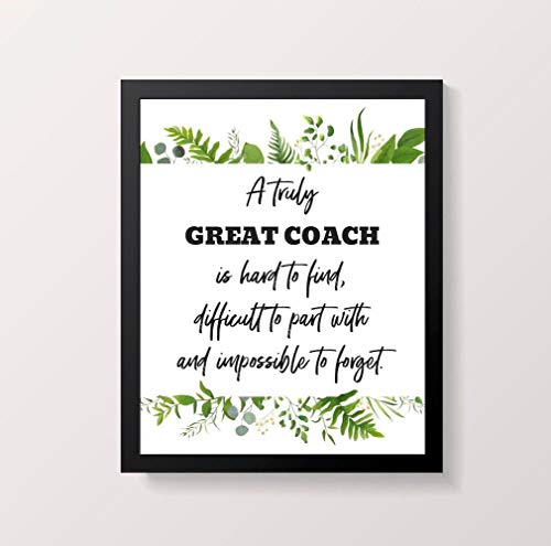 A Truly Great Coach is Hard to Find Art Print Digital Download Instant Download Coach Appreciation Gift Team Gift for Coach