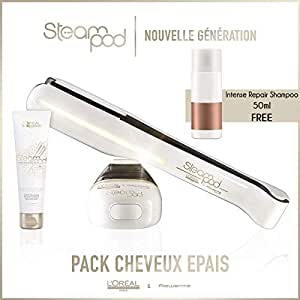 Steampod 2.0 Straightener Pack + Cream + Intense Repair Shampoo 50ml free