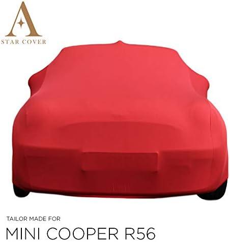 Housse Cabriolet Gris Housse Voiture DE Sport Star Cover Housse INT/ÉRIEUR Compatible avec Mini Cooper R56 B/ÂCHE Auto Garage LIVR/É Rapide Oldtimer
