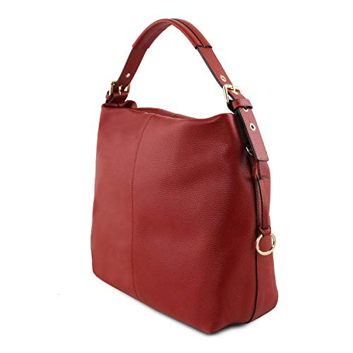 Sac Tuscany Rouge Souple TLBag Cuir Rouge Leather en Hobo EPxPwfFq