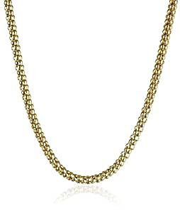 14k Yellow Gold Italian 2.50mm Popcorn Chain Necklace, 16""