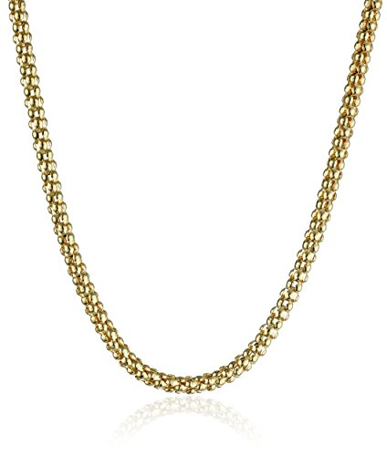 14k Yellow Gold Italian 2.50mm Popcorn-Chain Necklace, 18'' by Amazon Collection